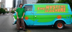 Austin has its own Mystery Machine, along with a Scooby Doo inspired team of volunteers dedicated to brightening lives. Scooby Doo Memes, Custom Vans, Custom Trucks, Vw Bus, Dream Life, Vintage Cars, Diecast, Classic Cars, Mystery