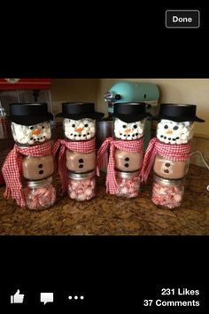 Cute homemade gift idea for Christmas. If visiting family (boyfriends family) for Christmas