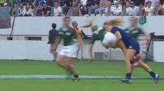 VIDEO. Coupe du monde rugby féminin. Ashleigh Baxter laisse sa hanche sur la pelouse après un caramel de Marjorie Mayans - Le Rugbynistère - 22/08/2014