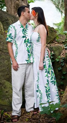 Muumuu robes hawa ennes and vacances tropicales on pinterest for Honolulu wedding dress rental
