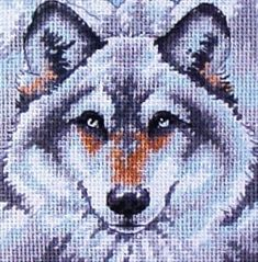 Call of the Wolf Needlepoint Kit 7211