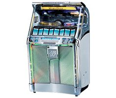 Wurlitzer Classic 2000 Jukebox, reproduction, $8975  Total retro cool vibe for any geeky abode, plus you'll have to explain what 45's are to the kids!