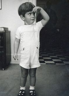 John Kennedy Jr at the White House, circa October 1963.