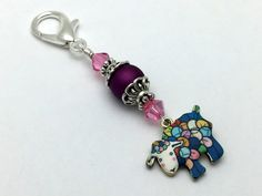 Beaded Yarn Sheep Zipper Pull Jewelry  Key by JillsHandmadeStuff