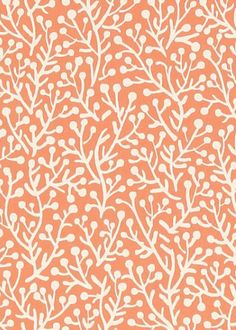 Close up of the #Seagreens #wallpaper in Coral. #Thibaut