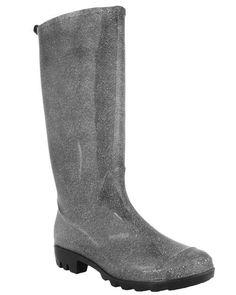 $24.95 Capelli New York Denim Printed Ladies Basic Body Jelly Rain Boot