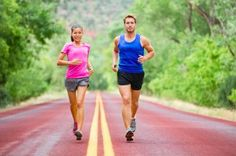 Fitness sport couple running jogging outside on road beautiful nature landscape. Runners training together for marathon run. Asian female sports woman and fit male fitness man in full body length. Sports Couples, Kids Sports, Sports Women, Female Sports, Sport Body, Sport Man, Sport Girl, Programme Running, Beige
