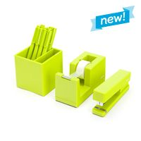 Starter Set Color: Lime Green for sale Green Desk, Green Office, Small Office, Large Home Office Furniture, Furniture Ideas, Modern Desk Accessories, Cool Office Supplies, Desk Supplies, Decorative Spheres