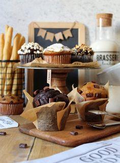 Greek Yogurt Muffins, Yogurt Greco, Cocoa Chocolate, Biscotti, Stuffed Mushrooms, Vanilla, Cupcakes, Cheese, Vegan
