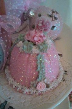 Faux tea cake pink rose Shabby cottage chic Fake Food Dessert Prop hp rose in Home & Garden | eBay