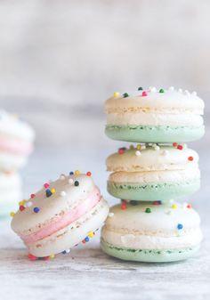 Cake Batter Macarons.
