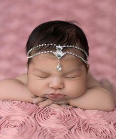 I just had to get it for my little princess....Love this Clear Double Rhinestone Diamond Teardrop Headband by The Tiny Blessings Boutique on zulily! I