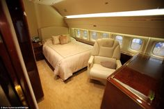 The jet, said to be worth USD$100million (£63m), features a bedroom that puts most airline's first class suites to shame - okay, you you would have to win a HUGE MegaWin lottery for this one but I couldn't place in in a wasteful spending board because it is not necessarily.