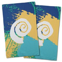 Island Girl Home Hand Towel Collection, Coastal Hand Towels Wholesale, Wholesale Nautical & Tropical Kitchen Towels Hand Towel Sets, Hand Towels, Tea Towels, Tropical Kitchen, Nautical Kitchen, Nautical Pattern, Blue Yellow, Color Blue, Girl House