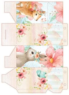 Diy And Crafts, Crafts For Kids, Arts And Crafts, Mini Toile, Paper Box Template, Box Patterns, Woodland Party, Easter Crafts, Craft Gifts