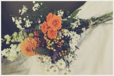 """""""SPECKLE ME ORANGE"""" Bouquet of Dahlia, Spray Roses, Montecasino, Berries, and Stock made by Flowers by Lena http://flowersbylena.4ormat.com"""