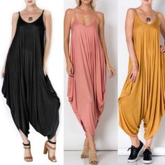 1 HR SALEJESSIE boho chic jumper - 3 colors Spaghetti String Jumpsuit -  mustard, black  & sage. Runs big.   95% Rayon  5% Spandex  NO TRADE PRICE FIRM Bellanblue Pants Jumpsuits & Rompers