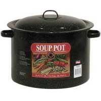 Granite Ware 6135-6 12-Quart Soup Pot by Granite Ware. $21.65. No PFOA's or any other chemical to alter food's taste. Dark interior absorbs ovens energy. Constructed of low carbon steel with glass coating. Steel core evenly distributes the heat. This 12 Qt soup pot is perfect size for cooking all your favorite soups. Granite Ware pots are constructed of low carbon steel with porcelain glass coating.  There are no PFOA's or other chemicals to alter food's taste, col...
