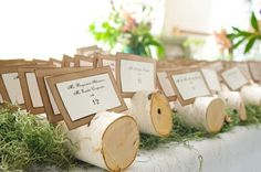 escort cards | Wedding Wednesdays: Rustic Chic | ice cream and french fries: Wedding ...