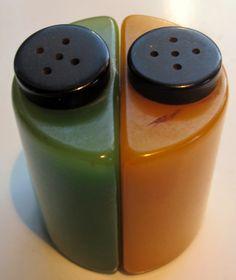 bakelite salt & pepper shakers