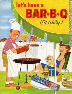 Let's have a Bar-B-Q it''s easy! vintage advertisement