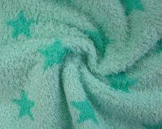 Badstof stars mint/green