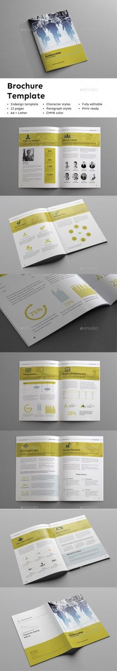 Business Brochure Vol 6 Business brochure, Brochures and - business profile template