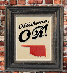 As an Oklahoma girl, I must have this in my house someday!