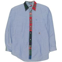 Tommy Hilfiger Polo Longsleeve Shirt Vintage Tommy Colourblock Tommy Hilfiger Expedition Outdoor Streetwear Hip Hop Hilfiger Shirt sz M