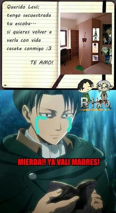El titulo lo dice todo (^.^) #detodo # De Todo # amreading # books # wattpad Attack On Titan Funny, Attack On Titan Anime, Otaku Anime, Manga Anime, Fandoms Tumblr, Ai No Kusabi, Levi X Eren, Levi Ackerman, Pokemon Comics