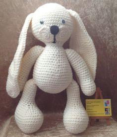 crochet amigurumi bunny plush toy - by kingsnqueenscrochet