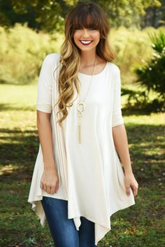 Share to save 10% on  your order instantly!  On The Go Tunic: Cream