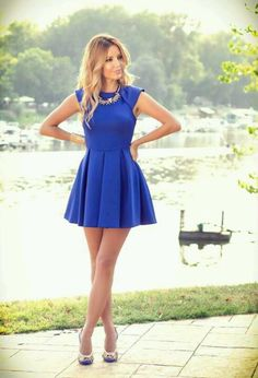 Blue going out dress