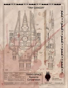 Foto: So, the Girls Gone Rogue Kickstarter has gone through the $3.5k barrier, so the ever-generous +Venger Satanishas released another starship map GRATIS! Even if you didn't back the KS...  Tiny Dancer is a Chihuahua class interceptor. Looks like someone took a headshot to get their hands on these plans. Wipe off the brain goo and they are yours for keeps!  At $4k another starship map... Jump on the KS here: https://www.kickstarter.com/projects/1575519826/girls-gone-rogue