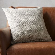 "18"" diamond weave natural pillow with down-alternative insert 