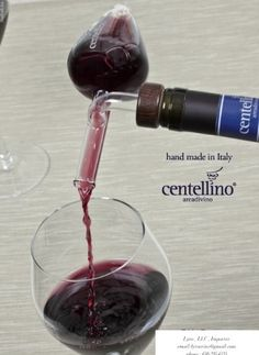 This Italian hand-crafted wine aerator and decanter by Centellino is built for all wine lovers out there! $53.33 http://onlywineaerator.com/products/centellino-wine-aerator-decanter/