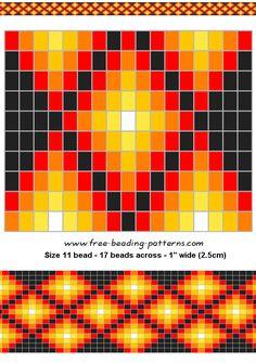 Warm colors, sophisticated beadwork design