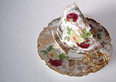 Japanese china teacups   vintage bond china tea cup japan floral gold by jpcountrymarket