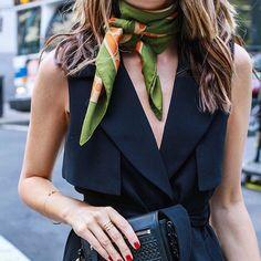 Stunning @louiseroe ❤️ | My favourite ever Hermes scarf look