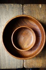Teak wooden bowls  Atelier Solarshop - Antwerp www.ateliersolarshop.be