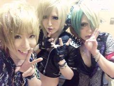 Kazuki (ex Royz) and Kameleo's Takashi and MEJIBRAY's MiA.