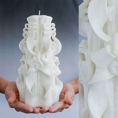 Unity candle Large candle White candle Wedding by primacandle, $34.00