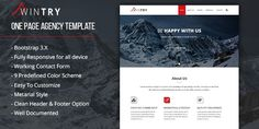 Buy Wintry - Bootstrap Agency Template by designphantom on Codester. Wintry is an Agency Tmeplate with Responsive Layout and Bootstrap Design Template Site, Templates, Bootstrap Template, Responsive Layout, First Page, Color Schemes, R Color Palette, Stencils, Colour Schemes