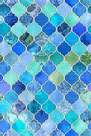 Image result for moroccan blue tiles