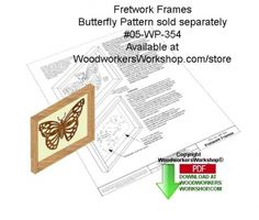 Free download, fretwork frame. 05-WP-354 - Frame Holder for Fretwork Downloadable Scrollsaw Woodcrafting Pattern PDF