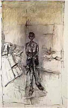 Alberto Giacometti Annette in the studio Alberto Giacometti, Figure Painting, Figure Drawing, Statues, Conceptual Drawing, Portraits, Life Drawing, Illustrations, Max Ernst