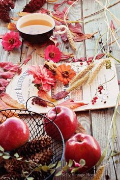 Array of Autumn Inspiration - Apples and Flowers of Fall Autumn Cozy, Autumn Fall, Autumn Tea, Autumn Aesthetic, Mabon, Fall Harvest, Autumn Inspiration, Happy Fall, Fall Season