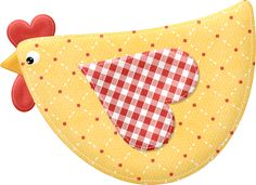 """Photo from album """"Sunny Side Up"""" on Yandex. Mug Rug Patterns, Applique Patterns, Applique Quilts, Applique Designs, Quilt Patterns, Chicken Crafts, Chicken Art, Fabric Crafts, Sewing Crafts"""