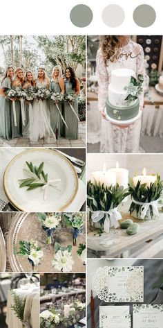 romantic rustic silver sage garden wedding color inspiration wedding colors Top 10 Wedding Color Trends We Expect to See in 2019 & 2020 (parte-one) Sage Wedding, Wedding Tips, Trendy Wedding, Perfect Wedding, Dream Wedding, Wedding Day, Wedding Rustic, Rustic Weddings, Unique Weddings