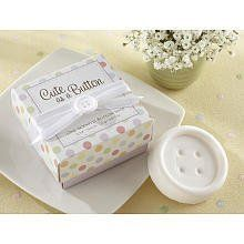 """Cute as a Button Scented Button Soap by Kate Aspen. $3.39. Gift box measures 2 1/2"""" h x 2 1/2"""" square. Round, pure-white, lightly scented soap in the shape of a button soap sits in a bed of shredded, natural raffia. Comes with a white-satin ribbon and bow embellished with a small, white button in the center. Kate Aspen brings an enchanting expression to life and to your baby shower with adorable """"Cute as a Button"""" Scented Button Soap. Perfectly white and sweetly scented, our ado..."""